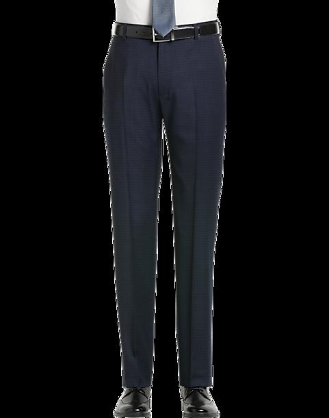 5bbeac7861f JOE Joseph Abboud Dark Blue Slim Fit Dress Pants - Men's Pants ...