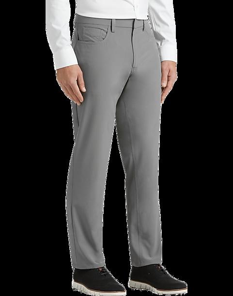 Perry Ellis Premium Slim Fit Tech Pants Gray