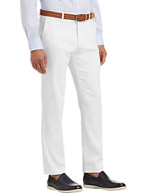 2e6a5e9b Mens Casual Pants, Pants - Tommy Hilfiger White Modern Fit Pants - Men's  Wearhouse