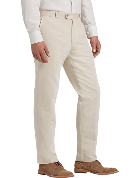 Joseph Abboud Men's Linen-Blend Modern Fit Pants