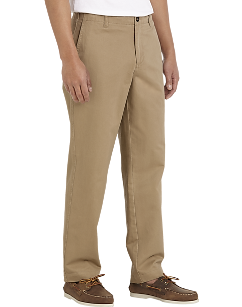 Our men's classic khaki pants are made with a new, updated fabric and fit. We offer a terrific selection of office or weekend-ready slacks that will take your style to the next level. You will find the quintessential straight-leg, the stylish slim-fit, and the more than comfortable loose-fit .
