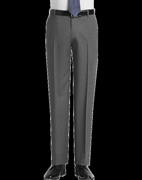 590553dac28454 JOE Joseph Abboud Light Gray Modern Fit Pants - Men's Pants | Men's ...