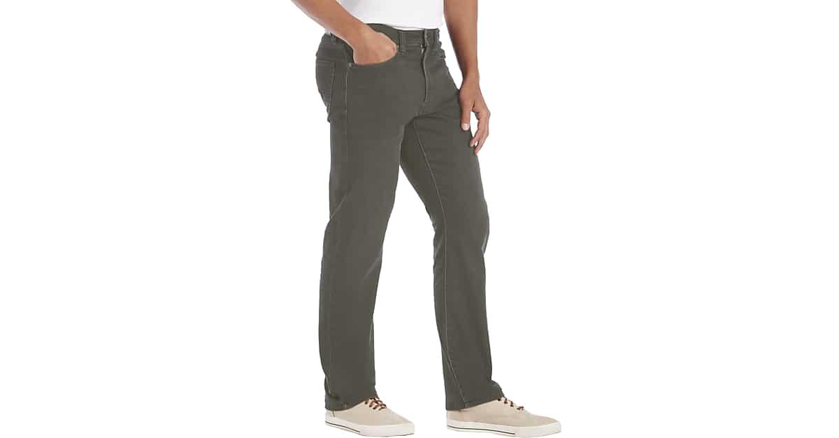 Flex by Joseph Abboud Charcoal Gray Classic Fit Knit Jean - Men s Classic  Fit  666eda112