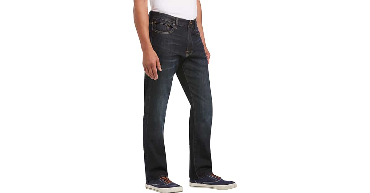 bf95411343d Dark Wash 410 Athletic Fit Jeans - Men s Jeans - Lucky Brand Jeans ...