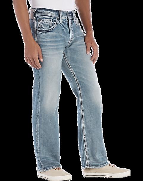 a293418d Silver Jeans Co. Zac Light Wash Jeans - Men's Pants | Men's Wearhouse