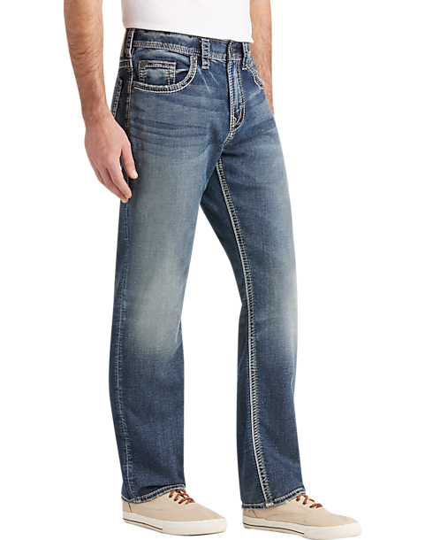 ed9dd5d9 Silver Jeans Co. Grayson Medium Blue Wash Relaxed Fit Jeans - Men's ...