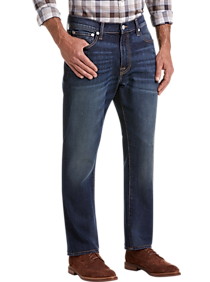 668638d4f9b Mens Home - Lucky Brand 410 Corte Madera Dark Wash Athletic Fit Jeans -  Men's Wearhouse