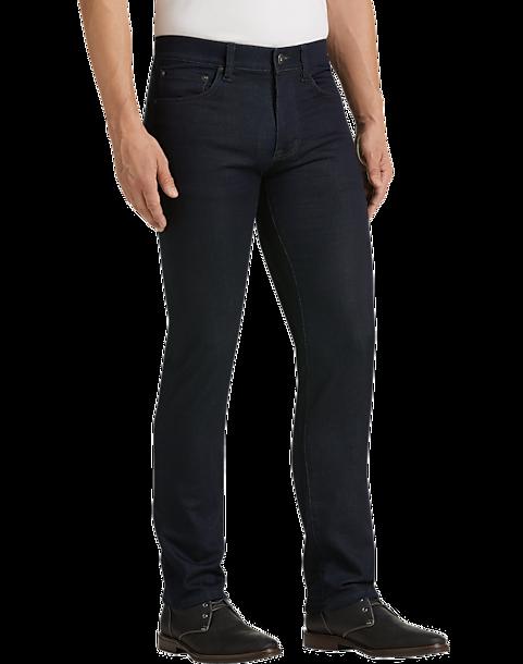 76fc06af Joseph Abboud Dark Blue Wash Slim Fit French Terry Jeans - Men's ...