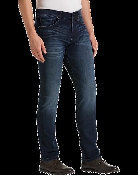 a0271cc079c JOE Joseph Abboud Dark Blue Wash Slim Fit Jeans - Men's Pants ...