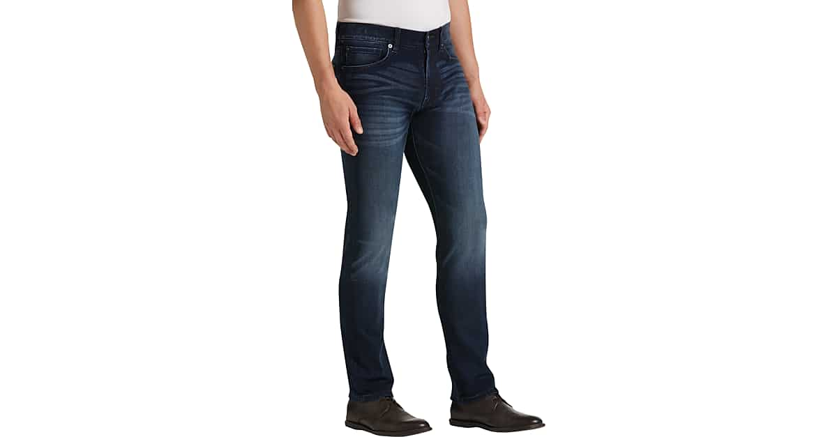 0a6fcf6c842 JOE Joseph Abboud Dark Blue Wash Slim Fit Jeans - Men s Pants ...