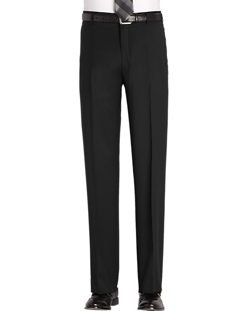 Awearness Kenneth Cole Black Modern Fit Pants Mens Dress Pants