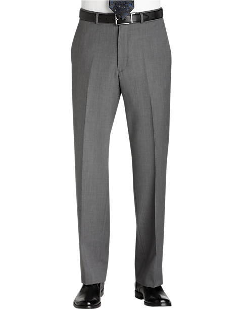 Kenneth Cole Gray Slim Fit Dress Pants - Men's Slim Fit | Men's ...