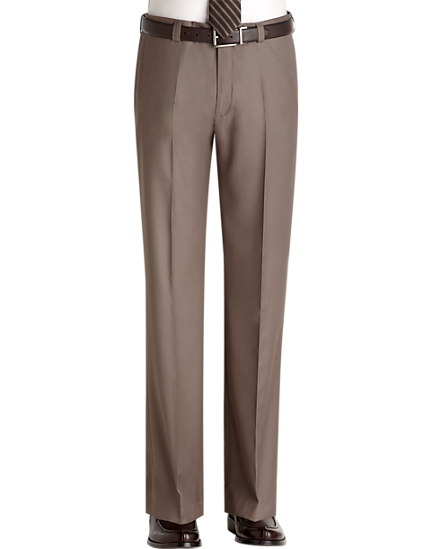 Pronto uomo taupe slim fit dress pants men 39 s slim fit for What goes with taupe