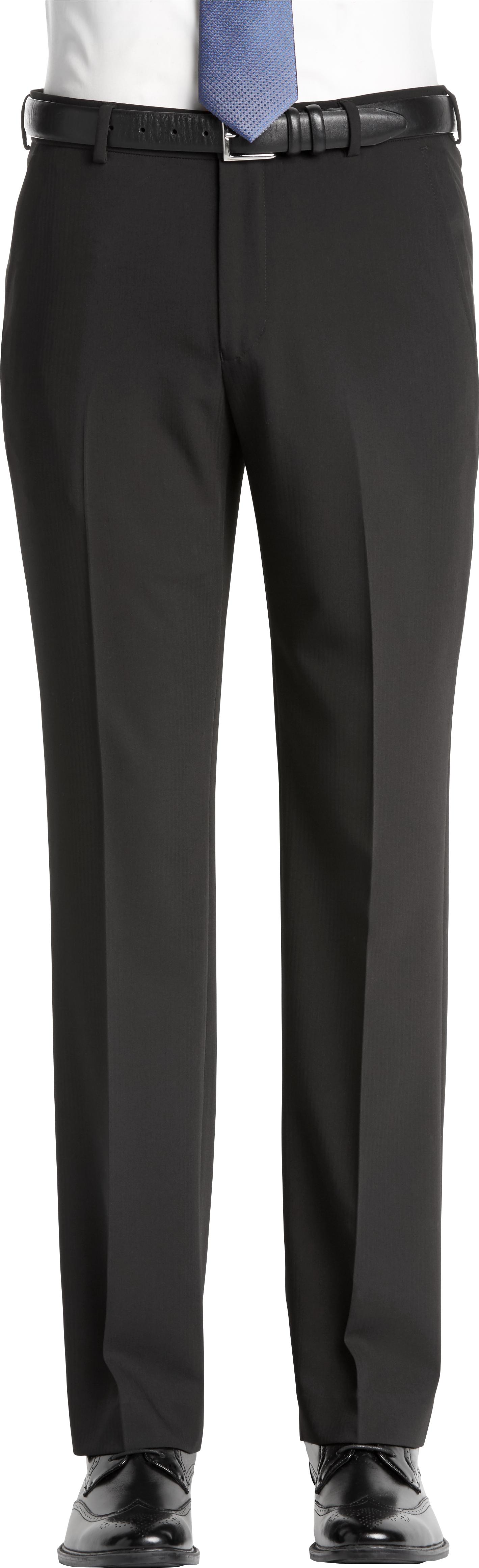 fa47dcb9cc47 Egara Black Herringbone Slim Fit Pants - Mens Home - Men s Wearhouse