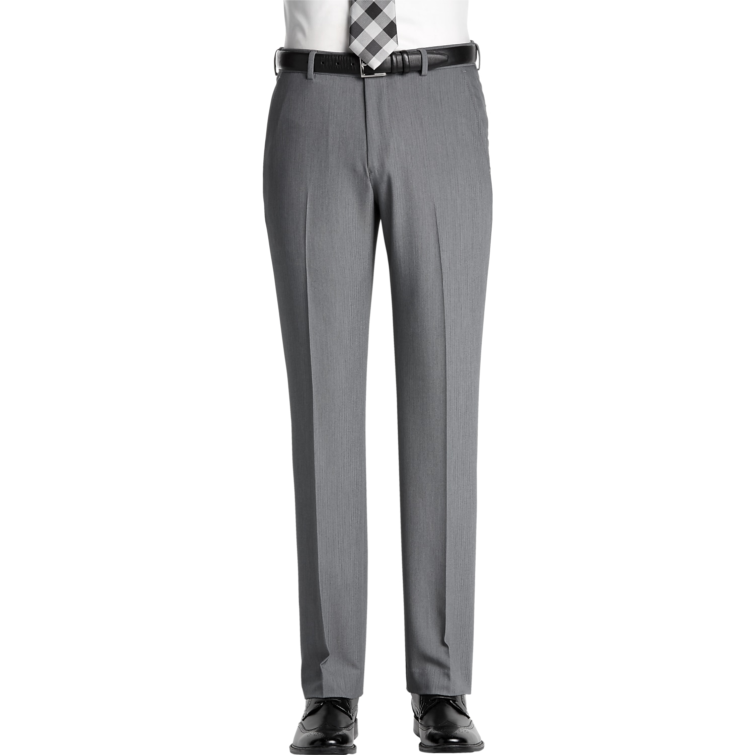Bithermic® grey dress pant in thermoregulating fabric, stretch band waist charcoal grey dress pants by Gala Slacks. Bithermic® fabric is made by a special technology that was first used by NASA in order to keep the astronauts cool when its hot & warm when its cold.