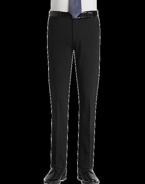 Egara Black Extreme Slim Fit Dress Pants - Mens Dress Slacks, Pants & Shorts  -