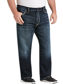 02e7b820d34 Mens Home - Big   Tall Silver Jeans Co. Eddie Dark Blue Wash Relaxed Fit