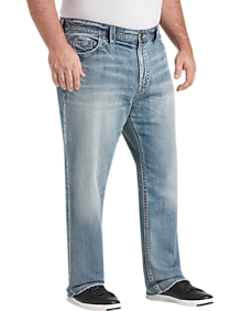 b9d4dc53 Mens Jeans, Pants - Big & Tall Silver Jeans Co. Medium Blue Wash Relaxed