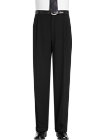 Joseph & Feiss Gold Classic Fit Dress Pants (Black)