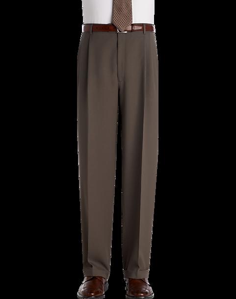560865e090054c 100% Wool Dark Brown Dress Pants - Men's Dress Pants - Joseph ...