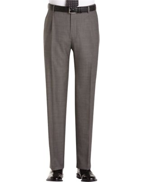 f1fe0a0a Joseph Abboud Gray Sharkskin Pleated Modern Fit Pleated Suit Separate Dress  Pants