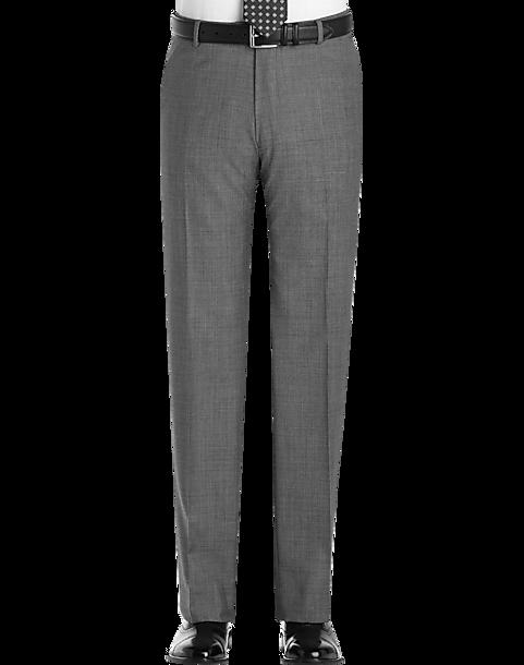 dd505715ada6 Joseph Abboud Gray Sharkskin Slim Fit Suit Separates Dress Pants ...