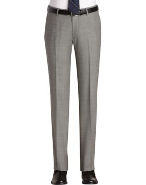 Egara Gray Sharkskin Slim Fit Suit Separates Dress Pants - Men's ...