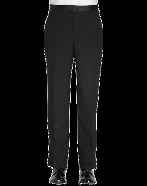 Jones New York Black Modern Fit Tuxedo Separates Pants Mens Dress