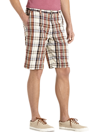 Joseph Abboud Plaid Modern Fit Shorts