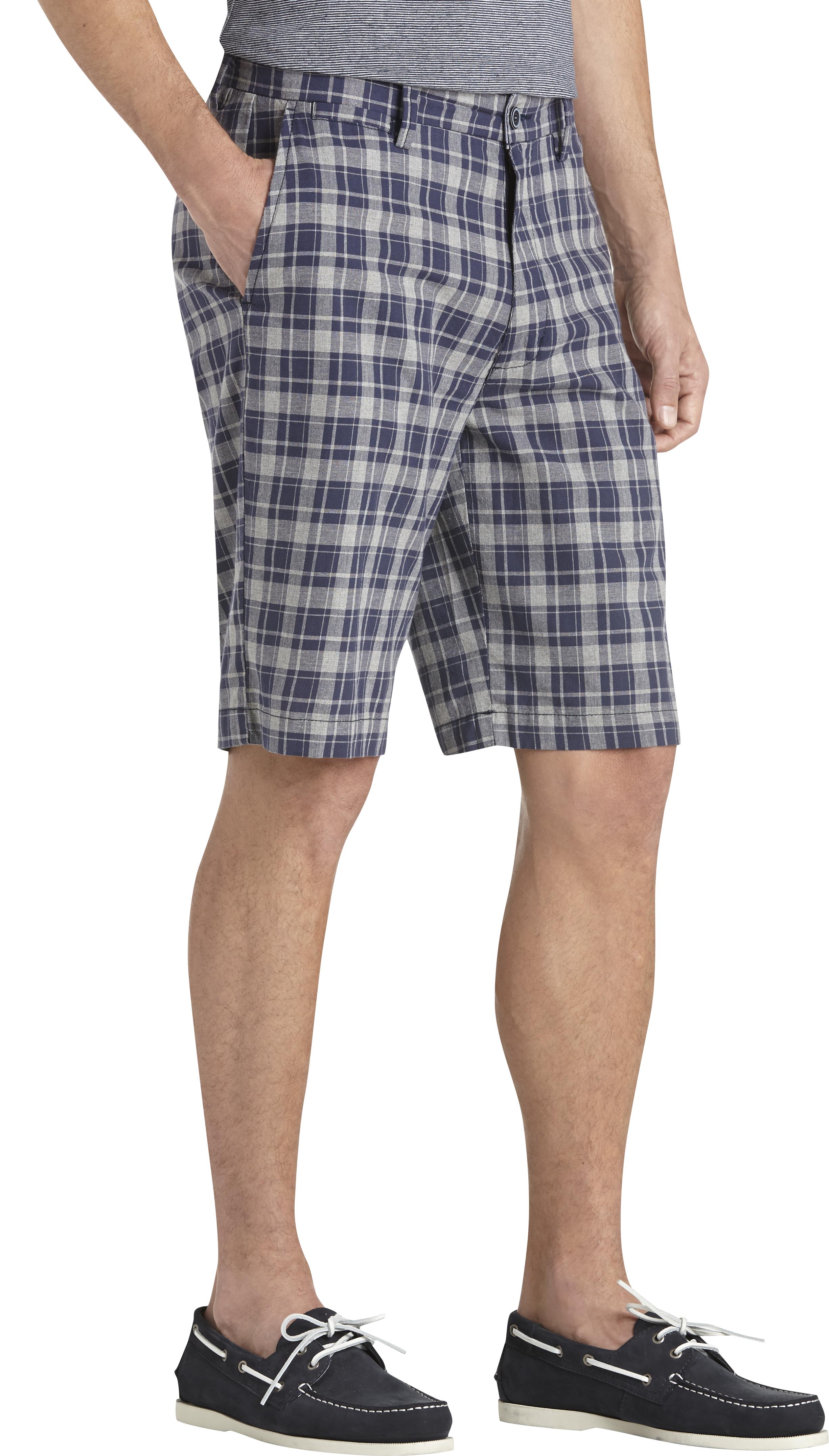Joseph Abboud Mens Plaid Shorts