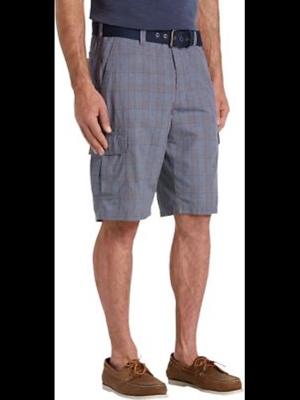 Mens Blue Plaid Shorts | Mens Wearhouse