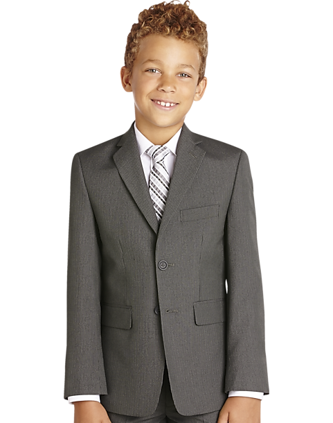 a805d549a Joseph & Feiss Boys Gray Stripe Suit Separates Coat - Men's Clothing ...