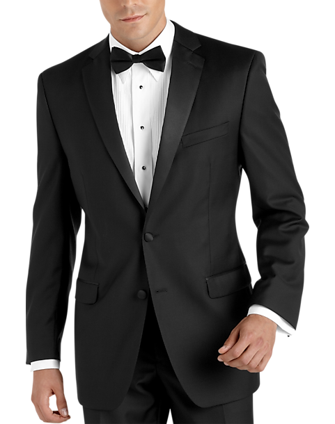 14860acb7c7e 100% Wool Black Slim Fit Tuxedo - Men's Tuxedos - Calvin Klein ...