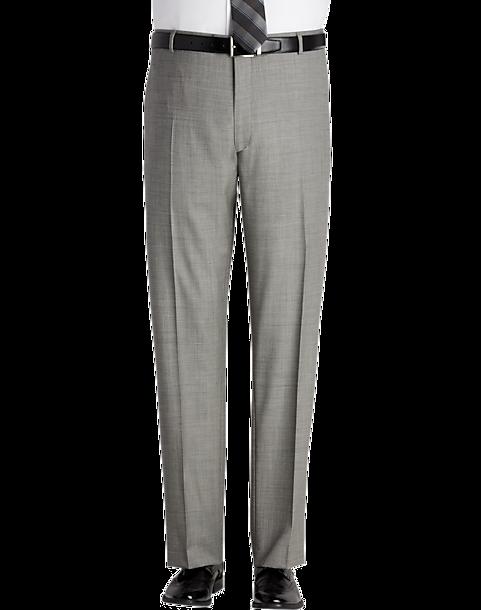 e2c41d70 Pronto Uomo Black & White Sharkskin Modern Fit Suit Separates Dress Pants