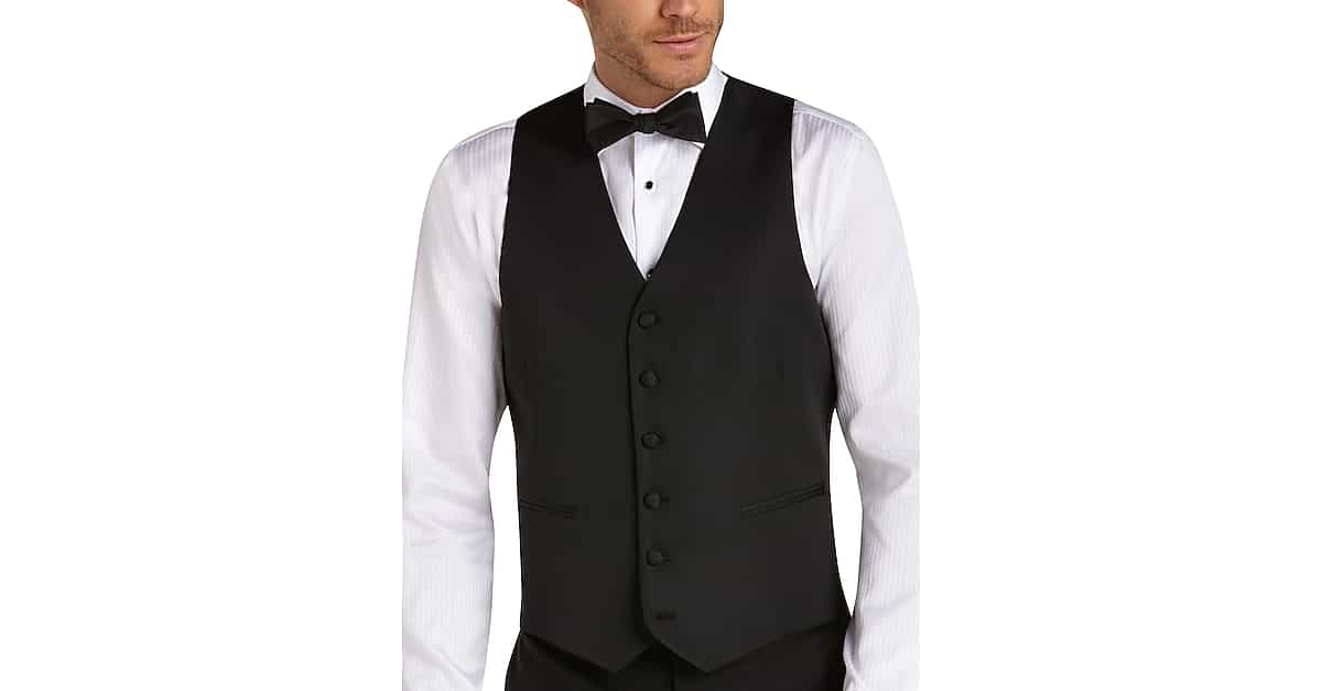 BLACK by Vera Wang Black Slim Fit Tuxedo Vest - Men\'s Suit Separate ...