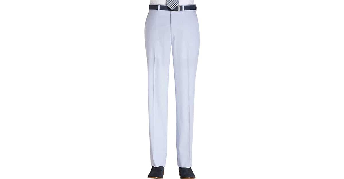 44145b3b Lauren by Ralph Lauren Blue Pincord Modern Fit Suit Separates Slacks -  Men's Pants | Men's Wearhouse