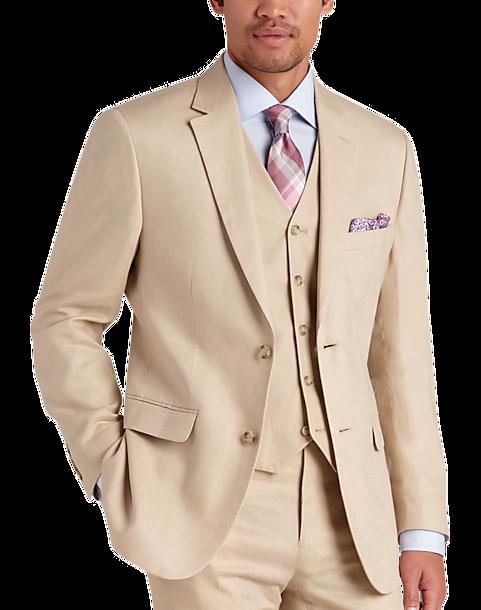 Mens Tan Suit P9g3