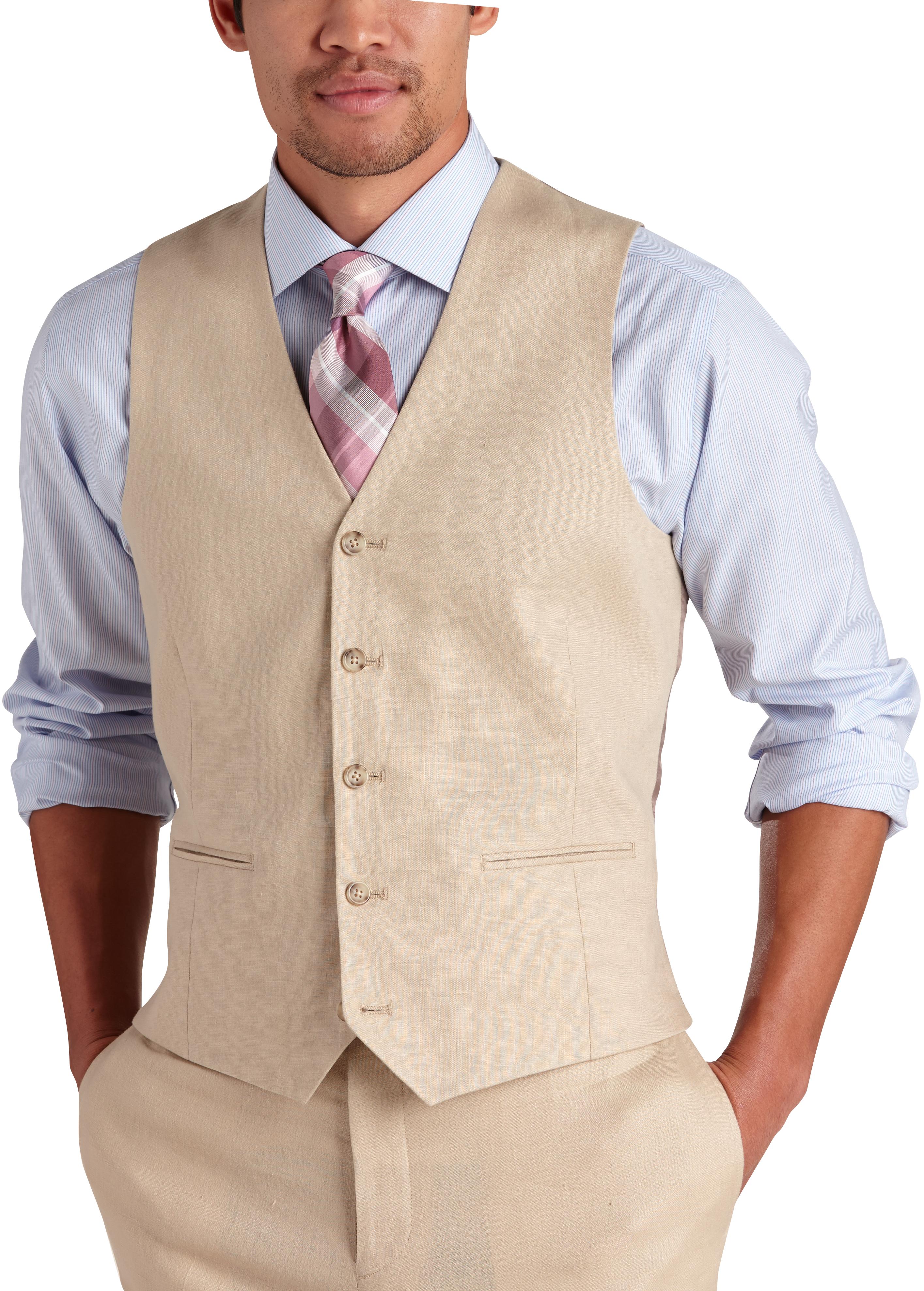 34ada23d7e5a Pronto Uomo Platinum Modern Fit Linen Suit Separate Vest