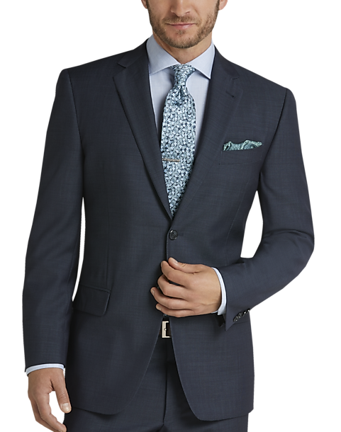 Joseph Abboud Mens Blue Modern Fit Suit