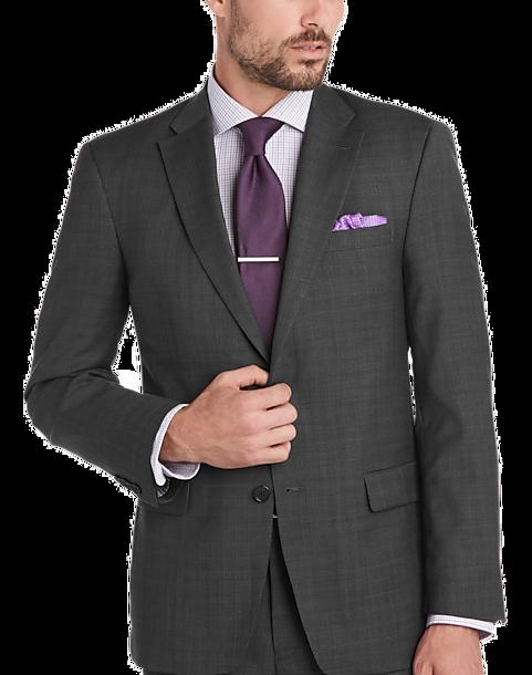 Tommy Hilfiger Charcoal Plaid Slim Fit Suit - Men's Slim Fit ...
