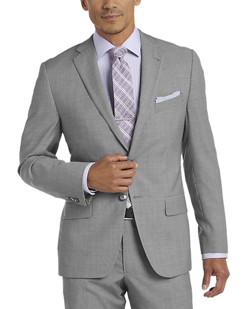 Joseph Abboud Light Gray Tic Slim Fit Suit - Men's Slim Fit ...
