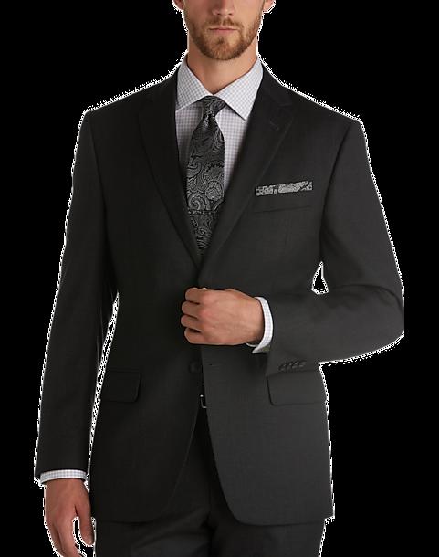 863d8ea01805 Joseph Abboud Charcoal Tic Modern Fit Suit - Men's Suits | Men's ...
