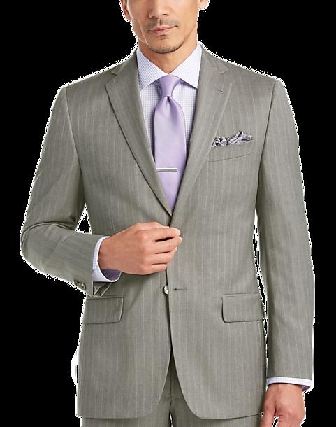 3f57702e6f Joseph Abboud Gray StripeModern Fit Suit - Men's Suits   Men's Wearhouse