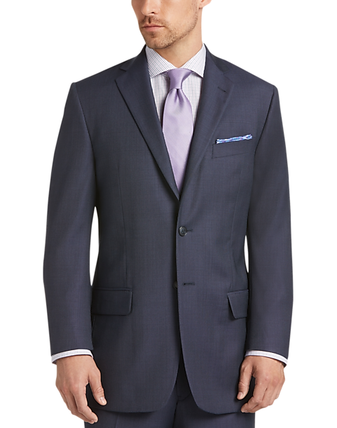 Joseph Abboud Navy Tic Modern Fit Suit - Men's | Men's Wearhouse