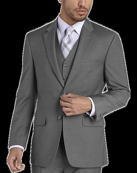 Pronto Uomo Gray Modern Fit Vested Suit Men S Modern Fit Men S