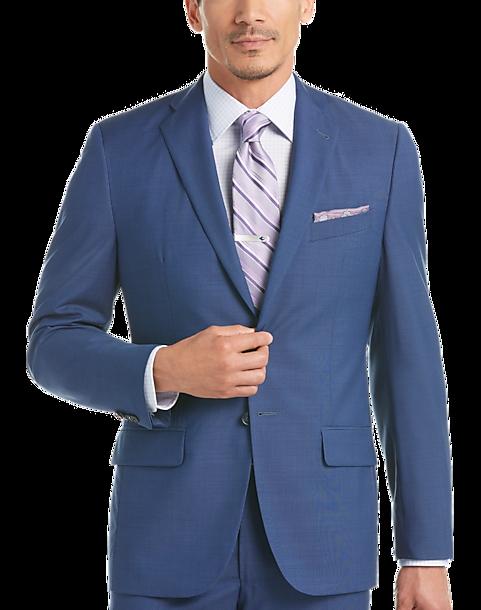 c5236792 100% Wool Blue Slim Fit Suit - Men's Suits - Joseph Abboud | Men's ...