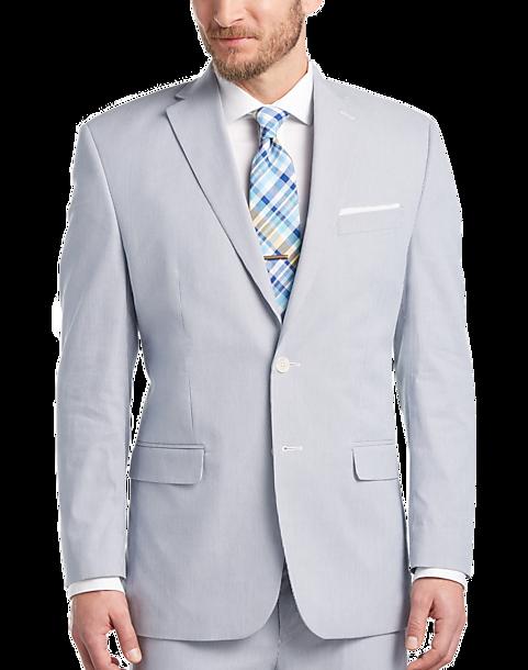 76ebca781ab6d0 Blue & White Pin Cord Classic Fit Suit - Men's Suits - Lauren by ...