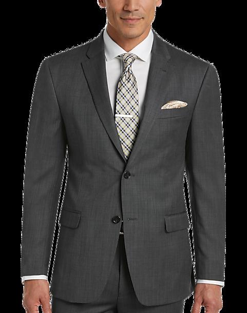 Tommy Hilfiger Charcoal Tic Slim Fit Suit - Men's Slim Fit | Men's ...