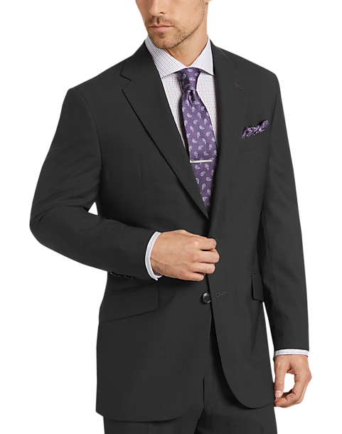 Joseph Abboud Black Multistripe Slim Fit Suit - Men's Slim Fit ...