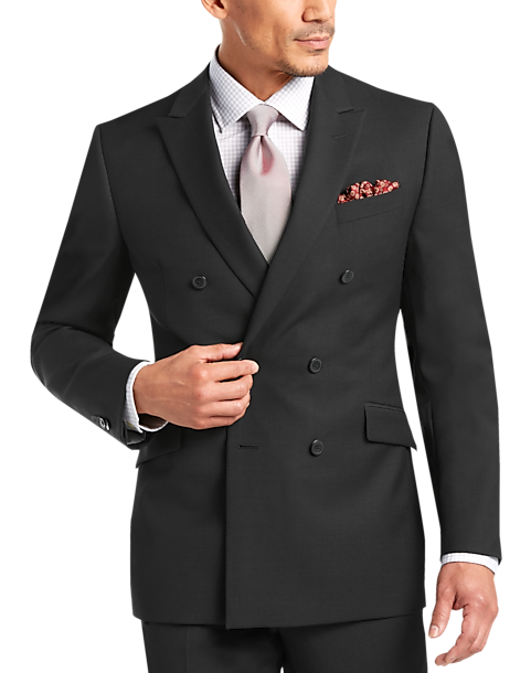 Double Breasted - JOE by Joseph Abboud Black Tic Slim Fit Suit ...